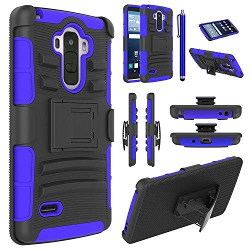 LG G Stylo Case, EC™ Hybrid Holster Case, Dual Layers Armor Case with Kickstand and Locking Belt Swivel Clip for LG G Stylo/LG G4 Stylus/ LG LS770 (Black/Blue)