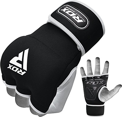 RDX Boxing Hand Wraps Inner Gloves for Punching - Neoprene Padded Fist Protection Bandages Under Mitts with Quick Long Wrist Support - Great for MMA, Muay Thai, Kickboxing & Martial Arts Training