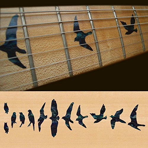 Fret Markers for Guitar & Bass Inlay Sticker Decals In Abalone Theme -Birds /BP