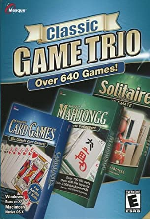 Masque Classic Game Trio With 640 Games: Mahjong, Solitaire