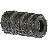 SunF Set of 4 A001 Off road Sport ATV Tires Front & Rear, 4 Ply (21x7-10 & 22x10-10)
