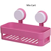 Mix Cart 26.9 x 12.7 x 7.5 cm Multipurpose Plastic Wall Shelf for Kitchen and Bathroom Storage Holder Stand (Multicolour)