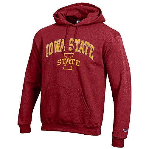 Elite Fan Shop NCAA Iowa State Cyclones Men's Team Color Hoodie Sweatshirt, Garnet, Medium