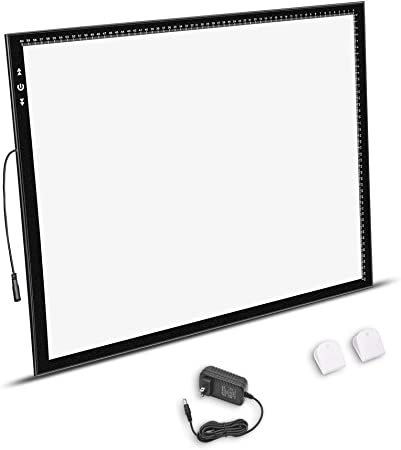 A2 Light Box Light Pad Aluminum frame Super Thin 5mm/0.2inches Touch Dimmer 20W Super Bright LED