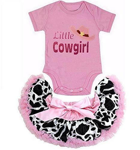 Cowgirl Tutu - Kirei Sui Little Cowgirl Short Sleeve Bodysuit & Tutu S Pink