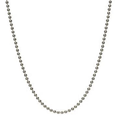 """Sterling Silver 925 Ball Bead 1.2mm 1.5mm 2mm 2.4mm Chain Necklace 16/""""18/""""20/""""24/"""""""