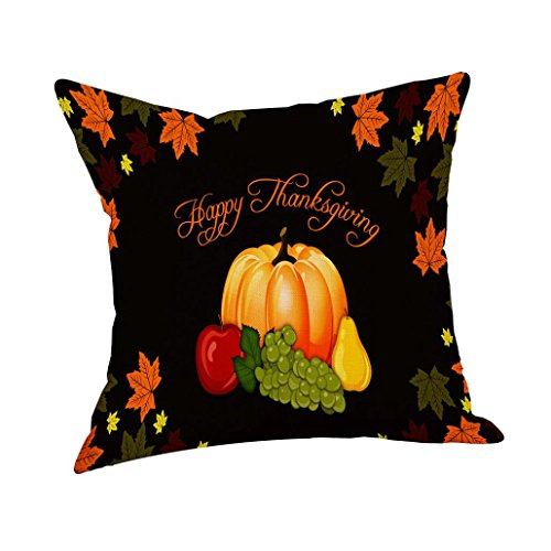 Coohole Thanksgiving Pillow Cover Thankful Sentiment Pillow Cases Embroidered Cusions Cover Home Car Decor (D) Sentiment Car