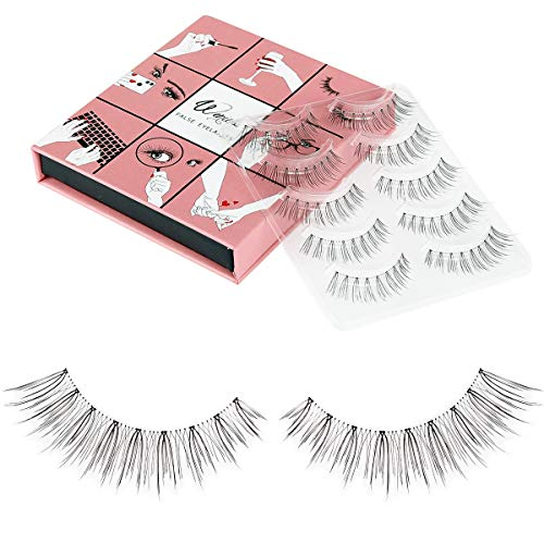 Fake Eyelashes WENIDA 5 Pairs 100% Handmade Long Soft Reusable, Natural look False Eyelashes ()