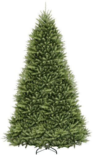 National Tree 12 Foot Dunhill Fir Tree, Hinged (DUH-120) (Pre Lit Dunhill Fir Artificial Christmas Tree)