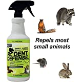 All Natural Rodent Defense Spray –Effective Repellent For Mice,Rats,Squirrels,Rabbits,Gophers,Raccoons&Most Small Animals –Outdoor &Indoor Mouse Deterrent For The Garden,Garage, Trash Cans