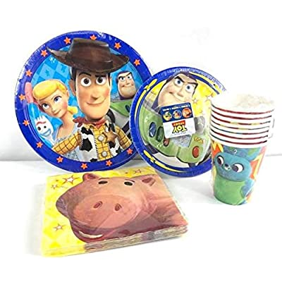 Disney Toy Story Value Pack Birthday Party for 8 Guests ( Plates, Cups, Napkins): Toys & Games