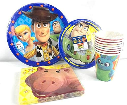 Disney Toy Story Value Pack Birthday Party for 8 guests ( Plates, Cups, Napkins) -