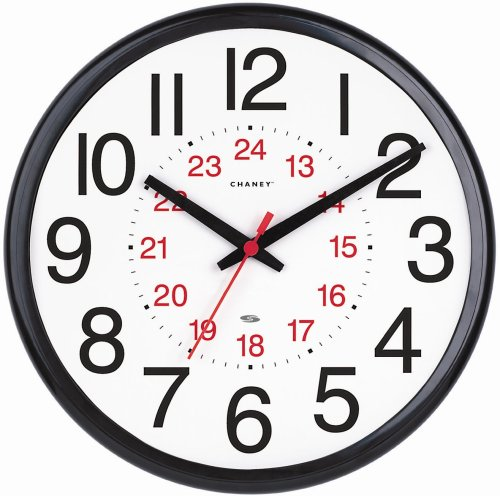 Chaney Instruments 14-Inch Wall Clock with Set & Forget Technology