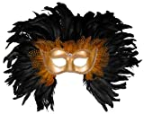 Best Feather Masks - Forum Elaborate Feather Venetian Mask, Gold/Black, One Size Review