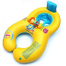 Mother and Baby Swim Float Inflatable Pool Combo Swimline Split Ring Raft Kid's Chair Seat Safety Swimming Circle