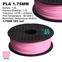 Century 3D PLA-1KG 1.75-PINK PLA 3D Printer Filament, Dimensional Accuracy +/- 0.05 mm, 1 kg Spool, 1.75 mm, Pink from Century Products, Inc