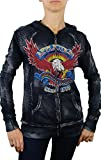 Affliction AC Eagle Clutch Long Sleeve Zip Hoodie S Black