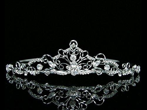 Bridal Princess Rhinestones Crystal Wedding Crown Tiara by Venus Jewelry