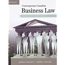 Contemporary Canadian Business Law Principles and Cases