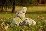 OrlandiStatuary Bunnies at Play Statue, White Moss For Sale