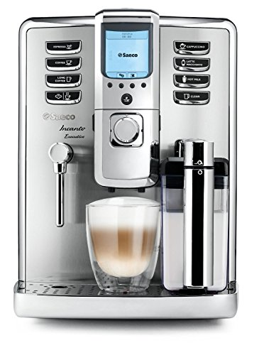 Saeco super-automatic espresso coffee machine with an adjustable grinder, milk frother, maker for brewing espresso, cappuccino, latte. Incanto ()