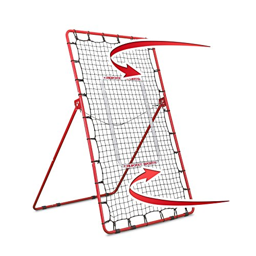 Rukket Pitch Back Baseball/Softball Rebounder | Pitching and Throwing Practice Partner | Adjustable Angle Pitchback (Pitch Baseball Pitching Machine)