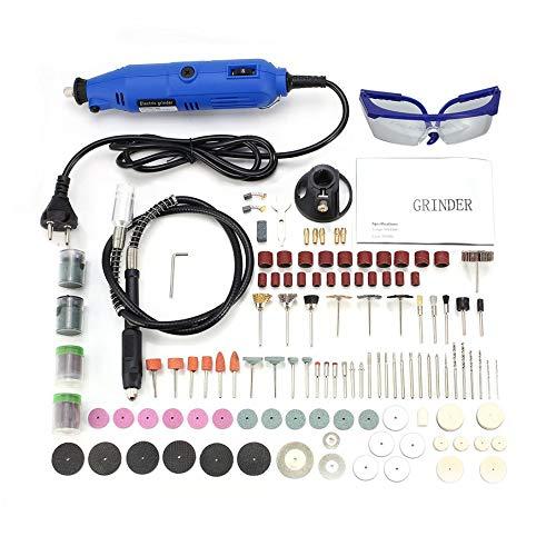 KNOSSOS 130W Incisione Penna elettrica Kit Trapano Strumento Grinder Strumento rossoante a velocità variabile Blu Scuro