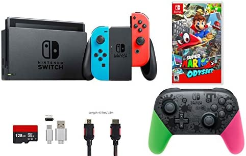 Nintendo Switch Pack (6 piezas): 32 GB Consola Neon Rojo Azul Joy-con, Nintendo Switch