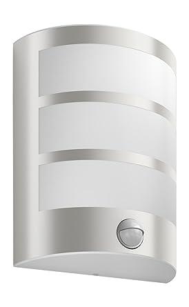 Philips myGarden Python - Aplique de pared con sensor de movimiento, iluminación exterior, acero