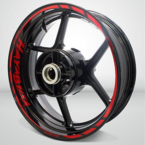 Gloss Red Motorcycle Rim Wheel Decal Accessory Sticker For Suzuki Hayabusa (Hayabusa Rims Motorcycle)