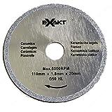 Deep Cut Saw Blades - 9121G50 - Main Application Ceramics, Teeth 0, Blade Type Circular Blade, Our Brands Exakt, Bore 25/32 in