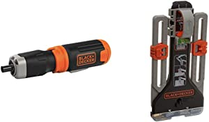 BLACK+DECKER Cordless Screwdriver with MarkIT Picture Hanging Tool Kit (BCF601AA & BDMKIT101C)