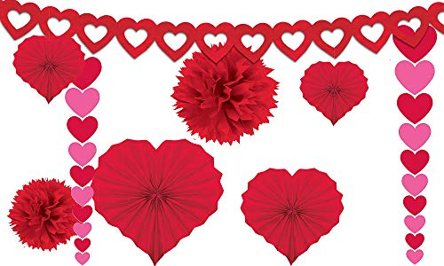 Amscan 240184 Valentine's Day Paper Kit party-decorations, One Size, Red -