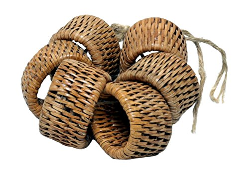 Artifacts Trading Company Rattan 6-Piece Oval Napkin Ring -
