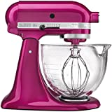 KitchenAid KSM155GBRI 5-Qt. Artisan Design Series with Glass Bowl - Raspberry Ice
