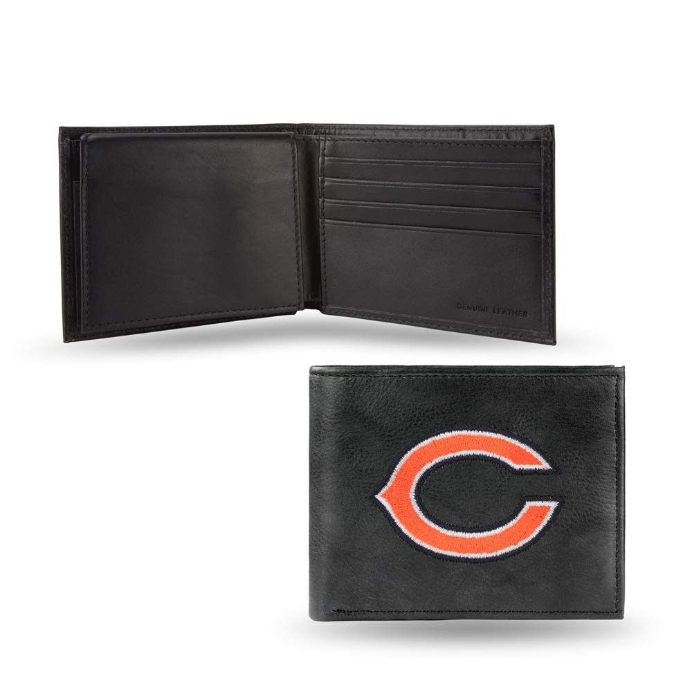 NFL Chicago Bears Embroidered Leather Billfold Wallet