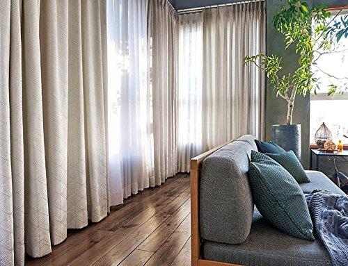 アスワン ナチュラルな雰囲気のアースカラーカーテン カーテン2倍ヒダ E6041 幅:300cm ×丈:120cm (2枚組)オーダーカーテン 120  B0784WQ18N