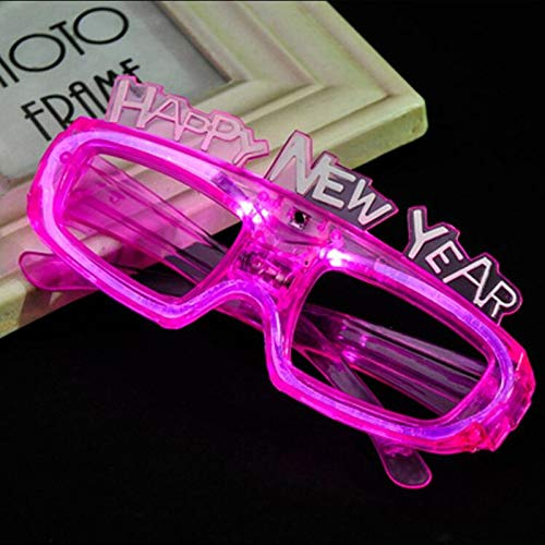 75bee41a8789d Amazon.com  12 Pack LED Light Up Glasses - Happy New Year Assorted Flashing  Lights - Fun New Year Party Decorations