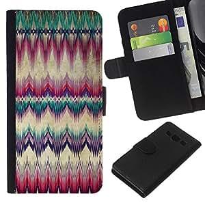 WINCASE Cuadro Funda Voltear Cuero Ranura Tarjetas TPU Carcasas Protectora Cover Case Para Samsung Galaxy A3 - alfombra de plumas cultura americana nativa