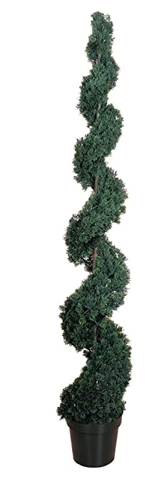 nearly natural cedar spiral silk tree 6feet green - Silk Trees