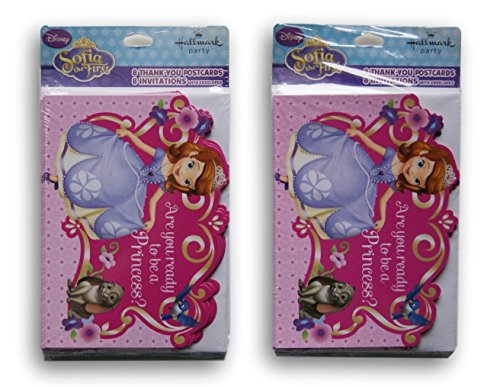 Sofia the First Invitation Cards - 16 Invitations and 16 Thank You Cards]()
