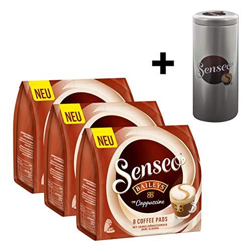 Senseo Typ Cappuccino Baileys Kaffeepads, Kaffee, Löslicher Kaffee, 3 x 8 Pads, mit Paddose