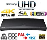SAMSUNG M9500 UHD - Wi-Fi - Dual HDMI - 2K/4K - Region Free Blu Ray Disc DVD Player - PAL/NTSC - USB - 100-240V 50/60Hz for World-Wide Use & 6 Feet Multi System 4K HDMI Cable