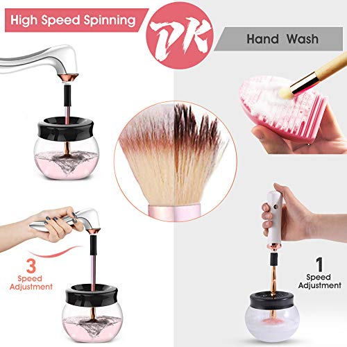 Hangsun Makeup Brush Cleaner and Dryer Machine Electric Make Up Brushes Washing Tools BC200 with 3 Adjustable Speeds - USB Rechargeable