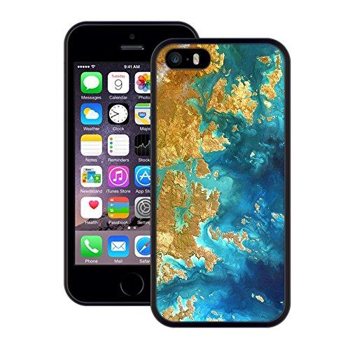 Inseln | Handgefertigt | iPhone 5 5s SE | Schwarze Hülle