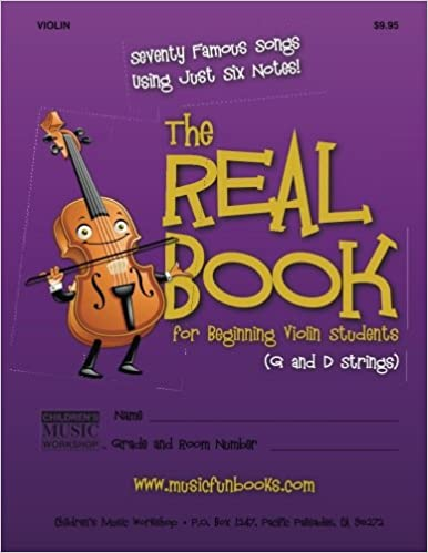 Amazon com: The Real Book for Beginning Violin Students (G