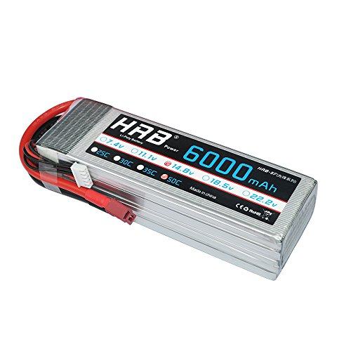 HRB 4S 6000mAh 14.8V 50C-100C RC Lipo Battery with T plug For RC Airplane, RC Helicopter, RC Car/Truck, RC Boat