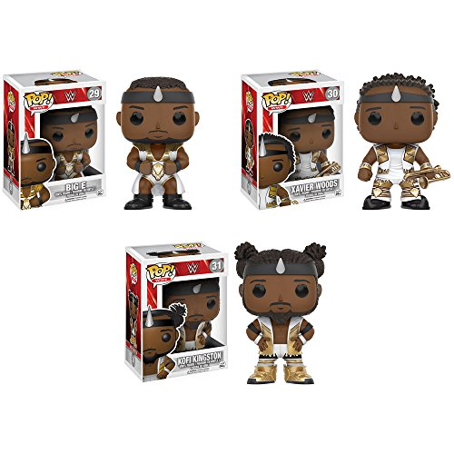 Pop! WWE: The New Day Big E, Xavier Woods (with his trombone Francesca!), and Kofi Kingston! Set of 3 by WWE