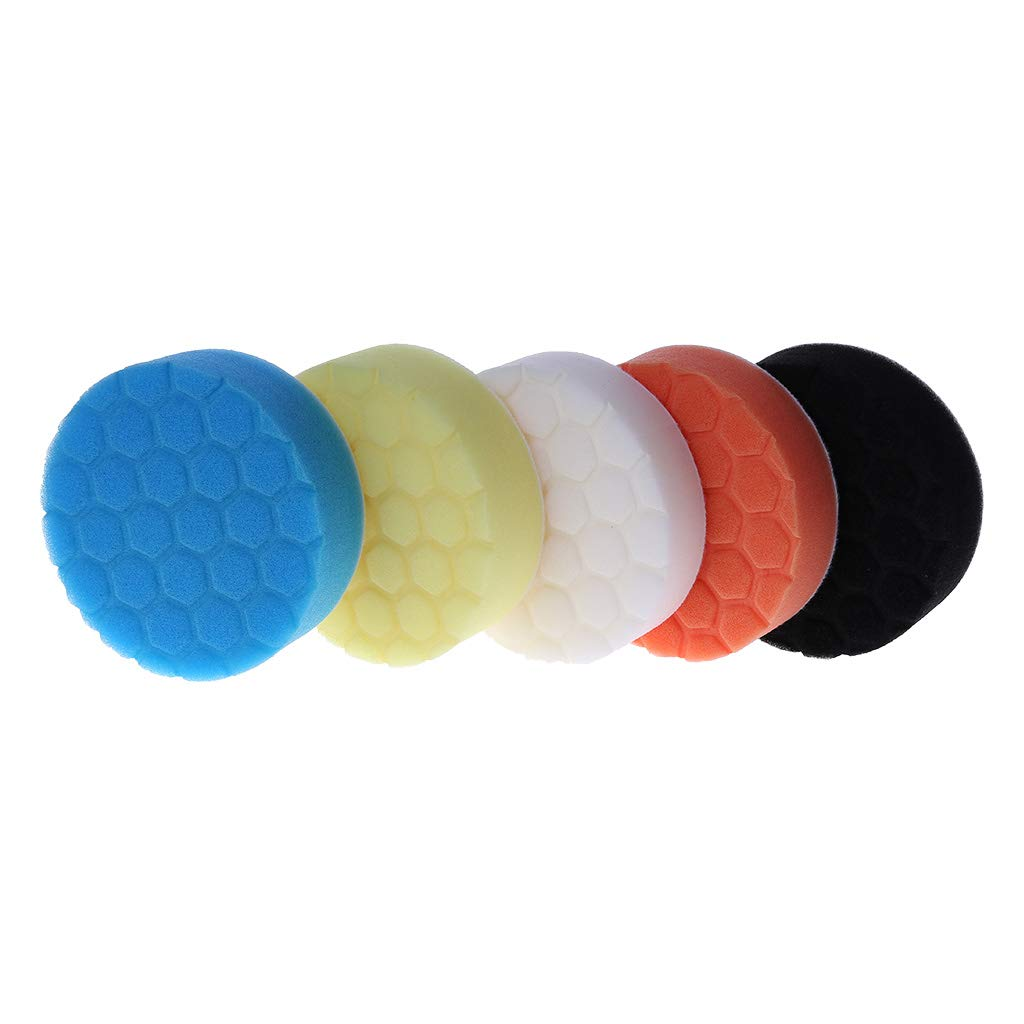 KUKALE Polishing Pad kit 4 inch (100mm) Buff Pad For Car Polisher Pack of 5Pcs-Professional Quality Pack Of 5Pcs For Car Buffer