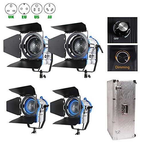 Dimmer-Built 650w2+1000w2+Aluminium Case Fresnel Tungsten Spot Lighting For Camera Studio